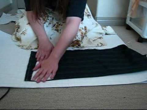 Sewing Tutorial: Knife Pleated Skirt