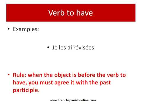 Past Participle Agreement in French