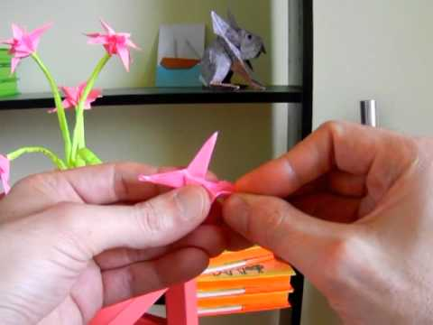 Sticky Note Origami Flowers in a Pot
