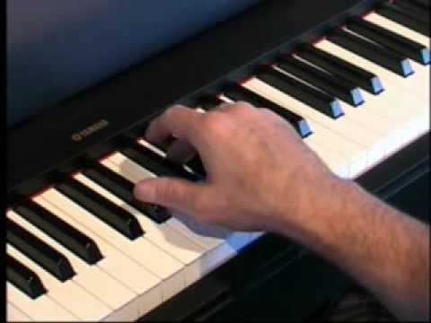 Piano Lessons - How to play Major Chords Using Black Keys