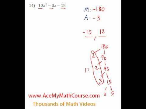 Polynomials - Factoring Trinomials (More Challenging) #14