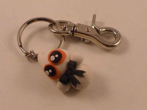 Polymer Clay Ghost Key Chain