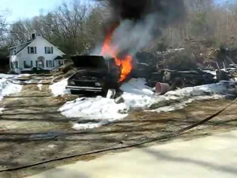 Volkswagen Rabbit Car Fire