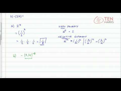 Simplify Expressions with Zero and Negative Exponents