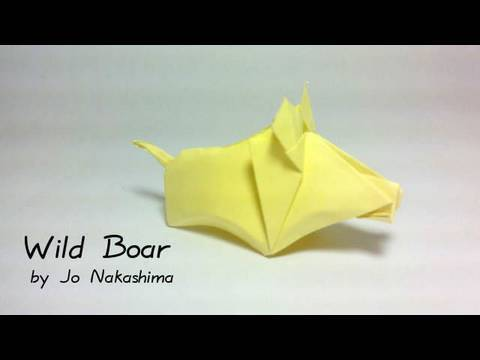 Origami Wild Boar (Jo Nakashima)