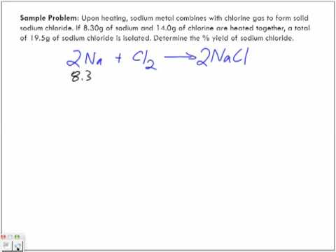 Percentage Yield Sample Problem #2 Part 1