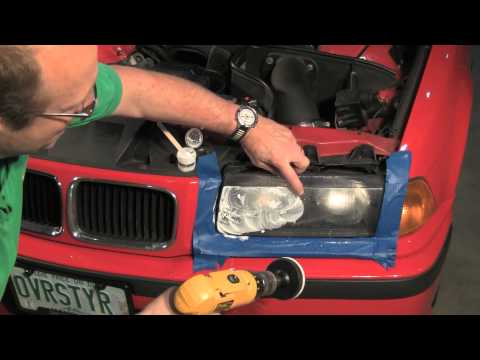 Renewing Plastic Headlight Lenses on a BMW or MINI