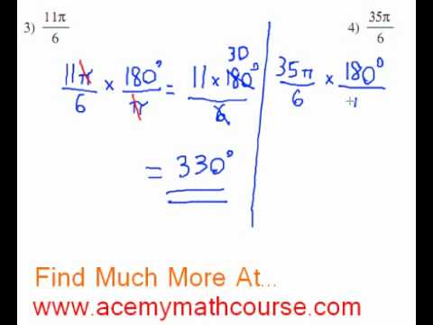 Trigonometry - Radians To Degrees Part 2