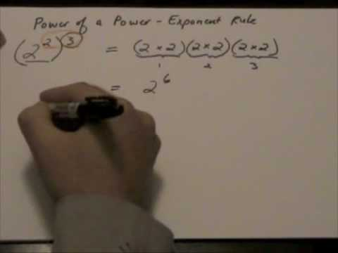 Power of a Power - Exponent Rule