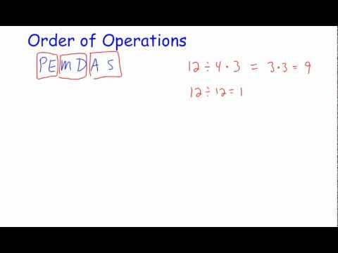 Order of Operation Basics