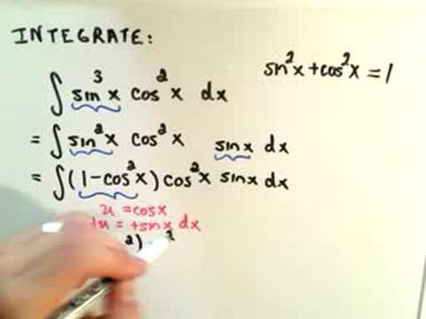 Trigonometric Integrals - Part 1 of 6