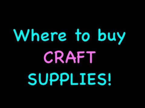 Where I buy craft supplies!