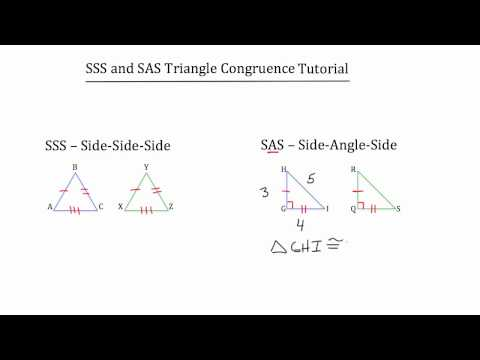 SSS and SAS Triangle Congruence