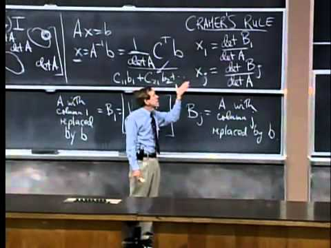 Saylor MA211: Cramer's rule, inverse matrix, and volume