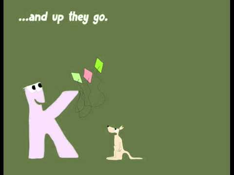 The alphabet for kids. Letter K: Kasper, King of Kites