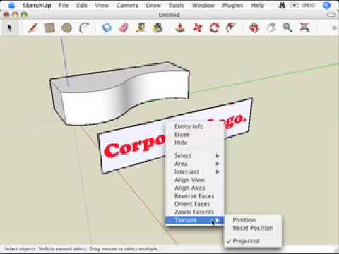 SketchUp: Mapping photo textures to curved surfaces