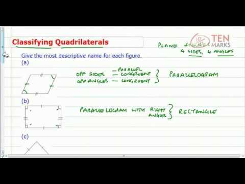 Quadrilateral Classification