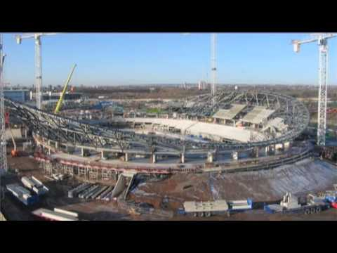 Velodrome progress and interview with cyclist Jamie Staff - London 2012