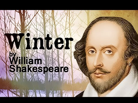 Pearls Of Wisdom - Winter by William Shakespeare - Poetry Reading