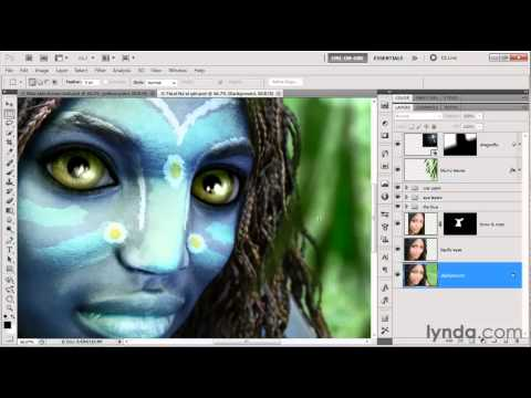 Photoshop tutorial: How to edit and enhance eyes | lynda.com