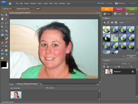 Photoshop Elements 7 Tutorial -  Fix Red eye removal
