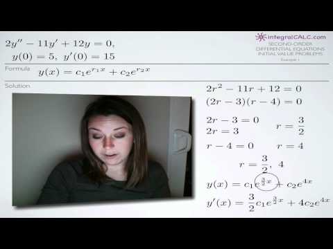 Second-Order Differential Equations Initial Value Problems Example 1