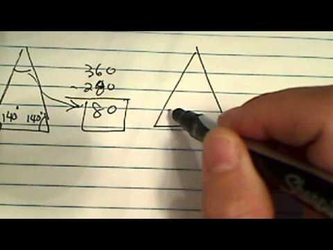 One angle of an isosceles triangle has a measure of 140