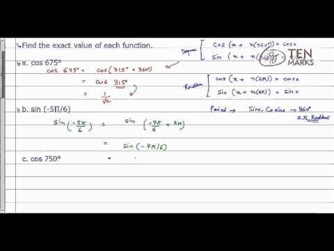 Value of a Trigonometric Function