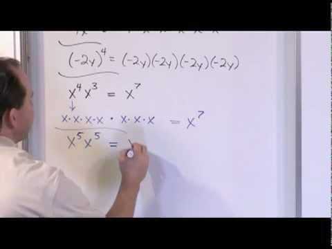 Natural Number Exponents - Sample Video Clip - Algebra 1 Tutor Vol 2