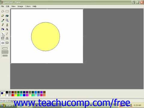 Windows XP Tutorial Drawing Shapes and Lines Microsoft Training Lesson 5.2