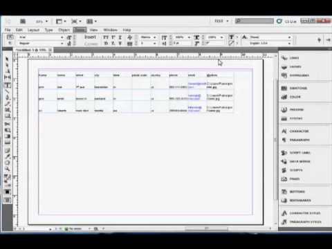InDesign Tutorial : How To Add Tables In Adobe InDesign CS5