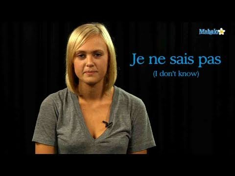 How to Say I Don't Know in French