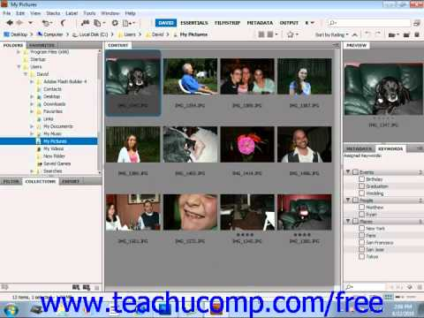 Photoshop CS5 Tutorial Labeling & Rating Files Adobe Training Lesson 2.6