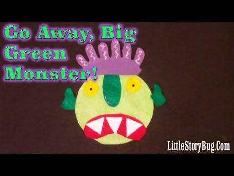 Felt Board Activity - Go Away, Big Green Monster - Littlestorybug