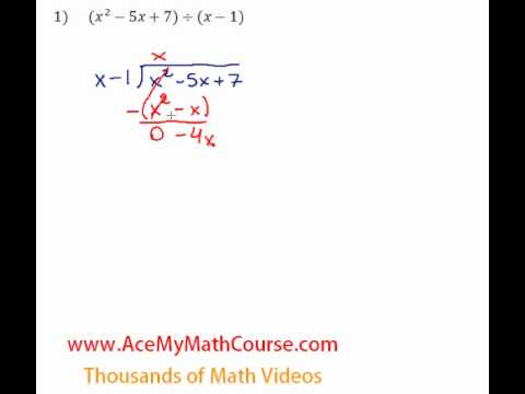 Long Division (Polynomials) - Question #1