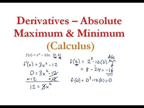 Derivatives - Absolute Maximum & Minimum - Question #2