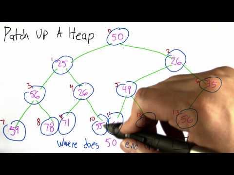 Patch up a Heap - Algorithms - Statistics - Udacity