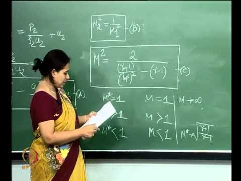 Mod-01 Lec-06 Lecture-06-Normal Shock in a duct: Throat and Reservoir conditions