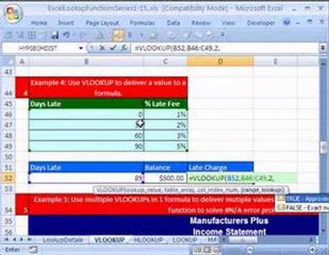 Excel Lookup Series #3: VLOOKUP Function 3rd Example
