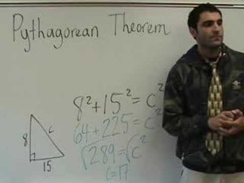 Algebra - Pythagorean Theorem