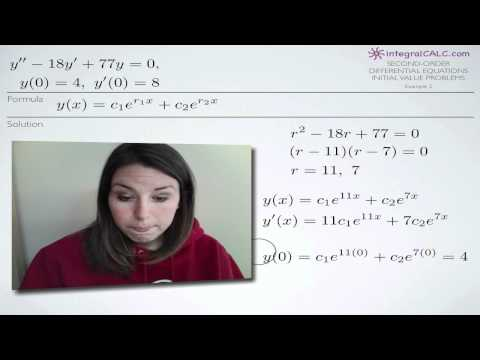 Second-Order Differential Equations Initial Value Problems Example 2