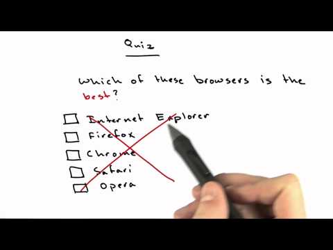 Best Browser Solution - CS253 Unit 1 - Udacity