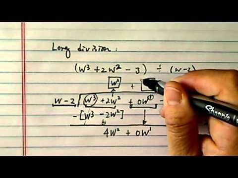 how to divide polynomials?? (long division)
