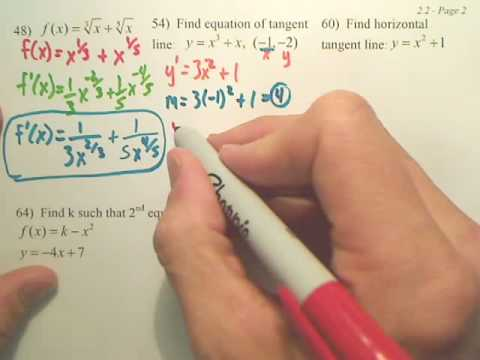 2.2b Basic Differentiation Rules and Rates of Change - Calculus