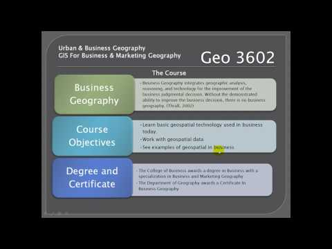 GIS For Business And Marketing Geography / Urban And Business Geogrpaphy  Geo 3602/6938