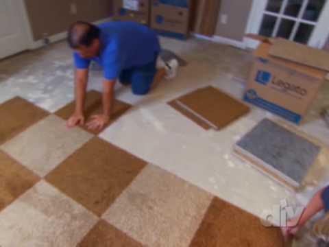 Installing Carpet Squares-DIY