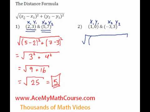 Distance Formula Questions #1-2