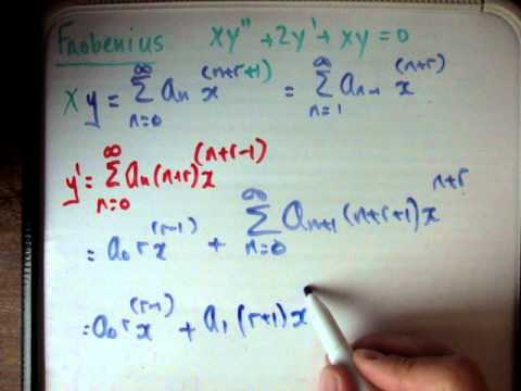 Frobenius method example 2 part 1