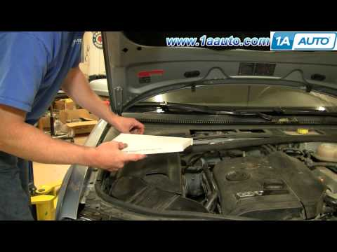 How To Install Replace Cabin Dust and Pollen Air Filter Volkswagen Passat 01-05 1AAuto.com