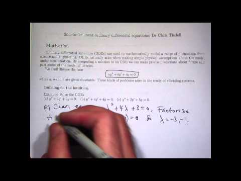 How to solve 2nd order differential equations